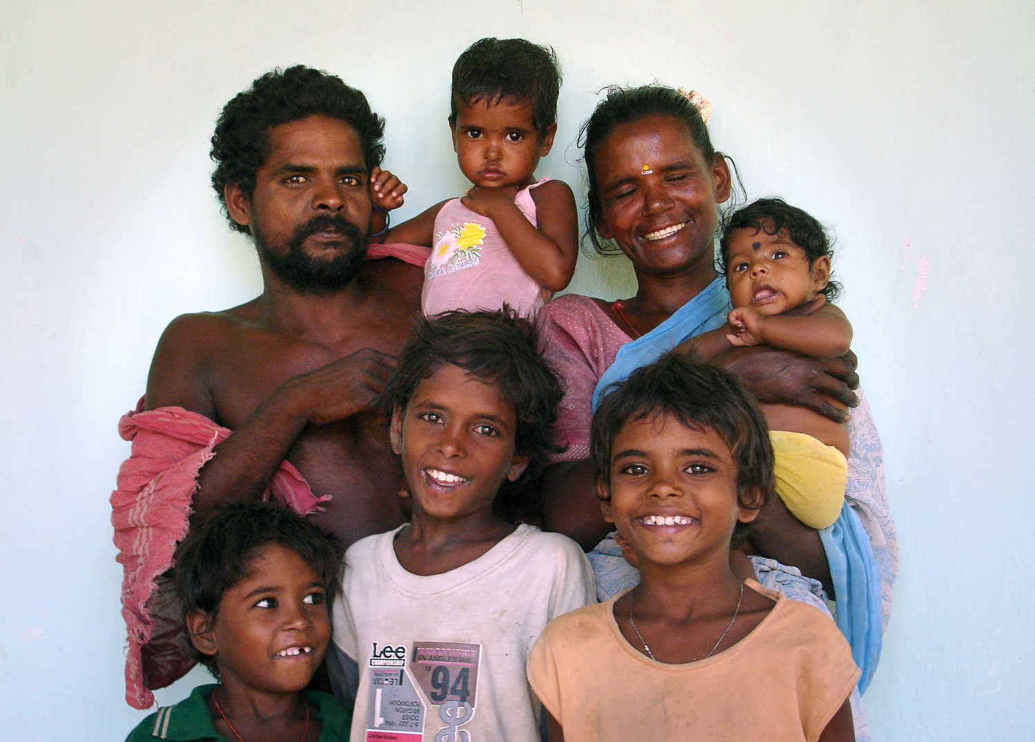 Gopi's family were rescued in May 2007