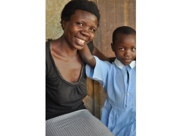 Harriet and her eight children are now safe in their home thanks to IJM Kampala.