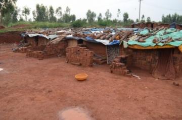 The forced labor slaves had been trafficked across state borders and were living in these tiny sheds in the factory where they made bricks