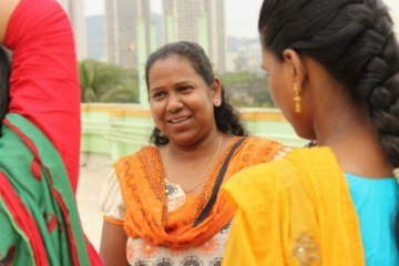 """Sheela is an IJM social worker. One of the survivors says: """"The way didi loves me makes me want to love others."""""""