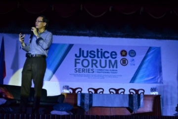 Attorney Jedrek Ng, a prosecutor with the Inter Agency Council Against Trafficking, explained how traffickers use force, deception and coercion to trap victims.