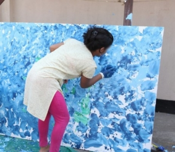 She also participated in art projects and other activities.