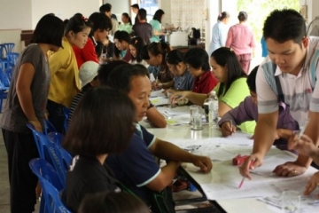 Thai government officials put into practice the training they received on helping hill tribe people get citizenship rights.