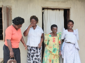 "After the court ruled, Margaret (far right) said, ""We feel so happy because IJM did for us what we did not expect."""