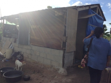 Angelita was part of a relief trip in January 2014, and a group of volunteers rebuilt her family's home.