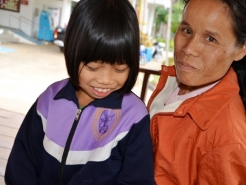 Mali and her mother, Bua, were entitled to citizenship under Thai law, but they suffered without it for years. (Image: Compassion International)