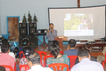 IJM Cambodia's first Director of Church Mobilization leads pastors in a training workshop he developed to help equip the Cambodian church to seek justice.