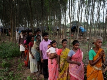 The families were desperate to leave the forest where they had been trapped as slaves for about six years.