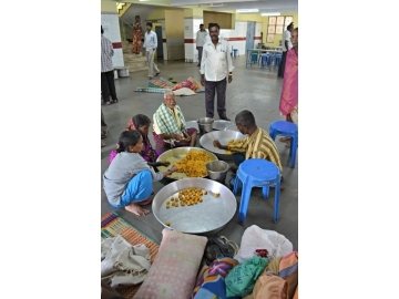 IJM and NASC helped with the interviews, and they worked together to ensure the families had food as they waited.