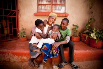"""Today, Grace is """"very happy"""" and can provide for her children and two grandchildren."""