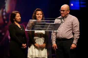 """At IJM's Global Prayer Gathering, Griselda said: """"On behalf of the thousands and millions of victims and survivors that I represent who don't have a voice, thank you very much."""""""