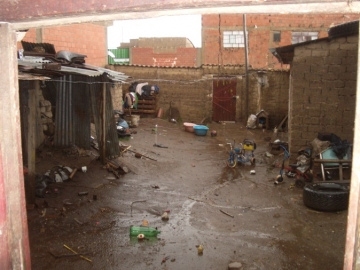 The home where of one of the clients IJM represented in court lives with her family.