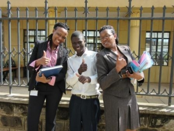 The IJM Kenya team celebrates freedom with Collins