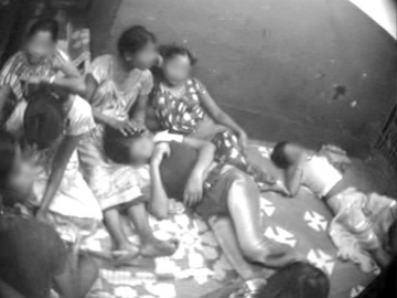 Girls rescued from one of Nakul Bera's brothels.