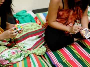 On the night they were rescued from trafficking, the high school-aged girls shared their stories with IJM and government social workers. They played games and spent the night in a safe shelter.