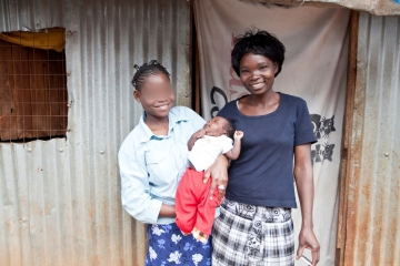 Libby's mother helped her stay strong through the two-year trial. They are both being supported by IJM Kenya as they build a safe life as a family.