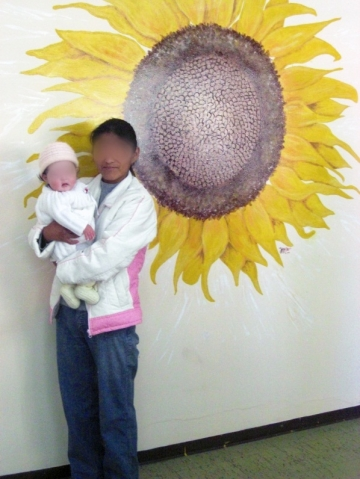 The teacher who sexually assaulted Luti was convicted in 2008. He appealed the conviction, and despite strong DNA evidence that he fathered Luti's child, the case dragged on for five more years, until the Supreme Court finally upheld the ruling. (Luti pictured with her baby).
