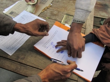 Many of the children were born into slavery and had never been allowed to attend school. They signed their release certificates by inking a thumbprint.
