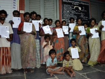 """14 people received certificates of release that cancel the alleged """"loan"""" that the rice mill owner had used to trap them in slavery."""