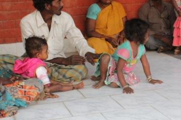After being rescued, the families sit down with IJM's staff.