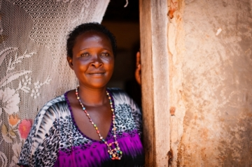 Constance and her children are now thriving with protection from IJM Kampala. She can manage her HIV medications and feels empowered to share in her community