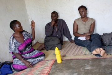 Constance shared her story with a focus group of IJM clients affected by HIV/AIDS.
