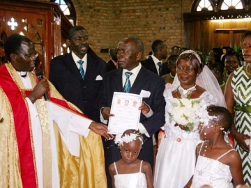 Rebecca and Kintu's marriage was formalized after 50 years of raising a family together.