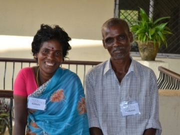 """When they were set free from slavery in a rice mill, Venkatesh and Subbulu returned home to meet their new granddaughter. Venkatesh said """"Our joy was complete."""""""