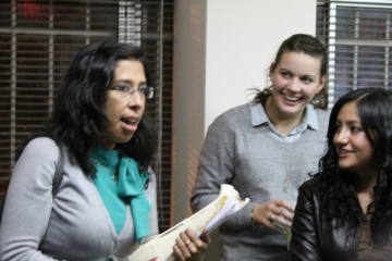 IJM lawyer Vanessa returns to the Bolivia office to tell the rest of the team that the perpetrator was convicted.