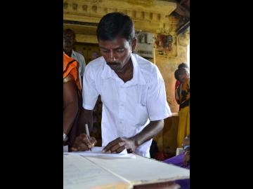 Three years after he was rescued from slavery in a rice mill in an IJM-assisted operation, Kutty was elected as a local government leader in a landslide victory.