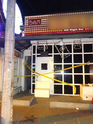 IJM helped local law enforcement rescue girls from this bar just before midnight on the Thursday of Easter weekend.