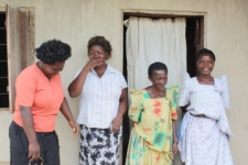 """After the court ruled, Margaret (far right) said, """"We feel so happy because IJM did for us what we did not expect."""""""