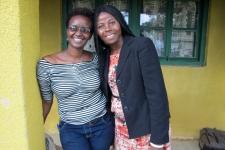 Brigitte, on the left, with Baraka, IJM Rwanda Director of Aftercare