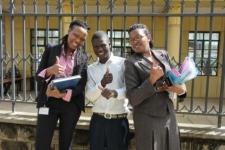 The IJM Kenya team celebrates freedom with Collins
