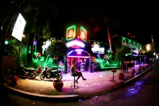 A bar on Fields Avenue in Pampanga, the Philippines
