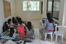 The morning after they were rescued, the survivors watch a video and hear Julita tell her story—how she was rescued from traffickers years ago and is now thriving in freedom.