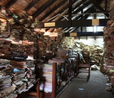 One of the rooms in a Ugandan courthouse where land registration and other legal documents are stored.